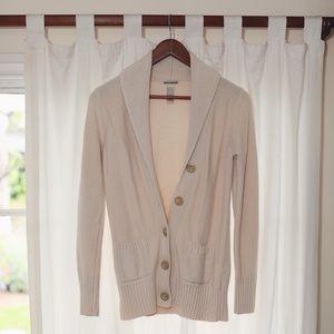 Lucky Brand Cream Cotton Cardigan